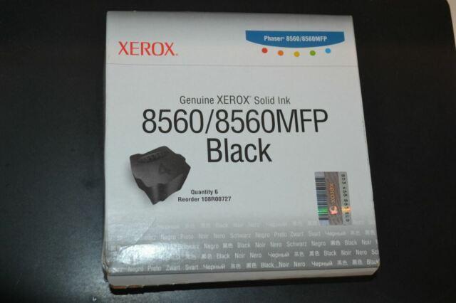Genuine Xerox 108R00727 Black Toner Cartridges Phaser 8560 8560MFP OEM