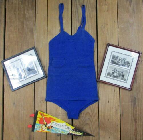 Vintage 30s Swimaway Wool Swimsuit Bathing Suit An