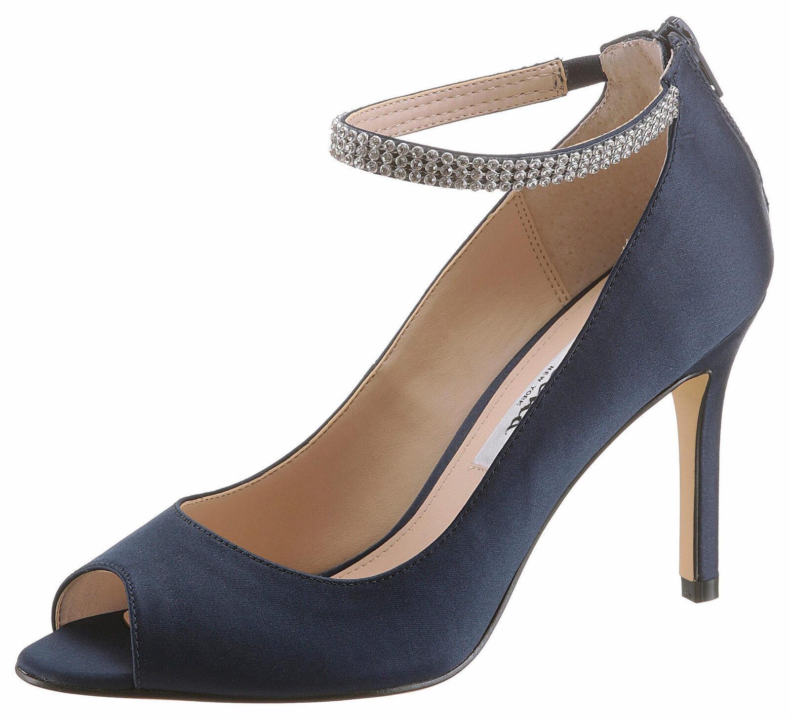 Zapatos de salón, Nina Nina Nina peeptoepumps, con brillantes con tiras, talla 38, textil  al precio mas bajo