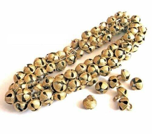Ghungroo Brass Bells Indian Antique Tribal Banjara Ethnic Kuchi Beads 15mm 25pcs