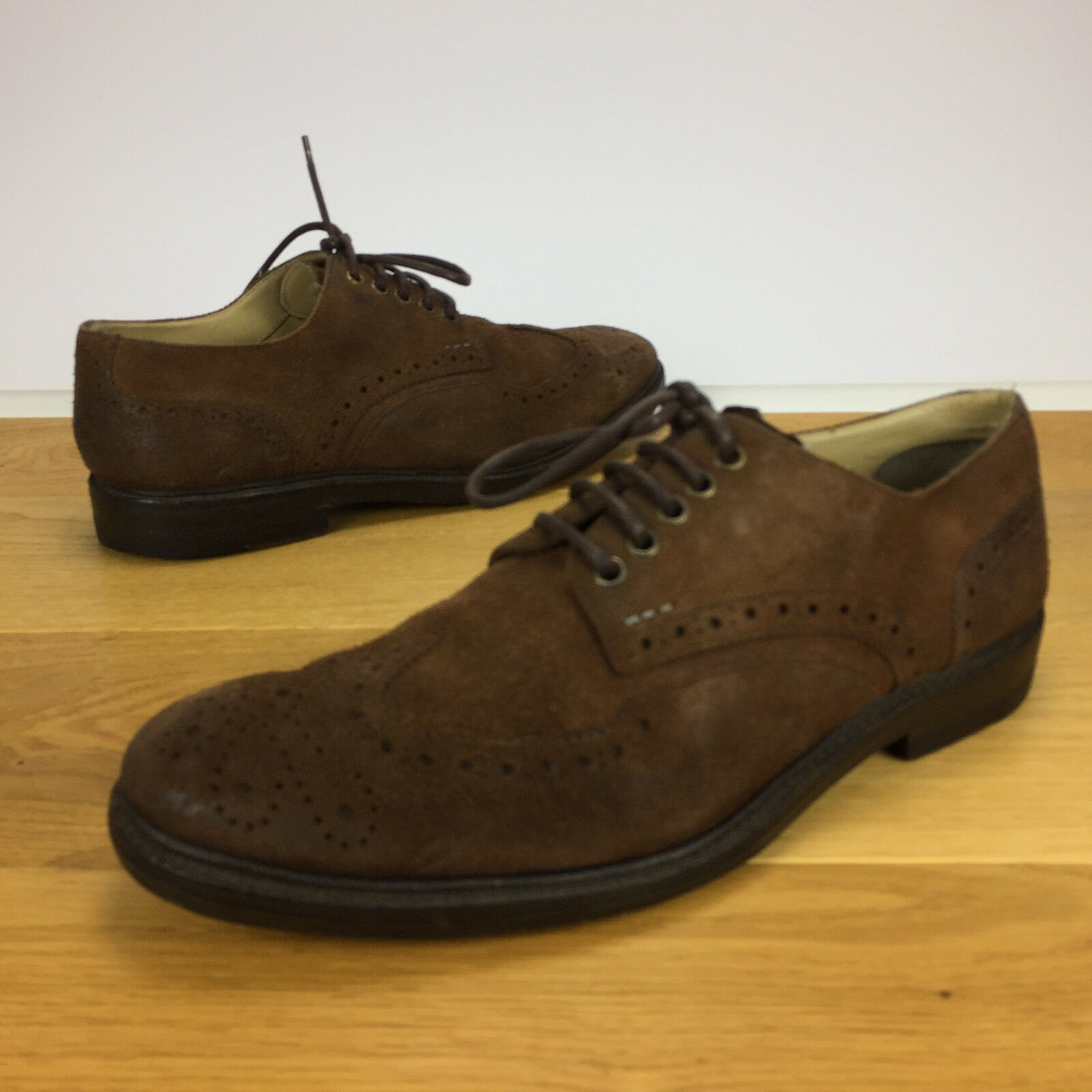 PAUL SMITH SCHUHE GR 43 / 9 (L9115-86-1278) BUDAPESTER BROGUE RAHMENGENÄHT