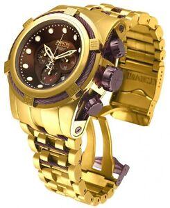 2bbcffef9b3 INVICTA 12755 Reserve Bolt Zeus Brown Dial Gold Tone Steel Bracelet ...