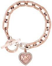 Michael Kors Women's Rose Gold Heart Mother's Day Chain