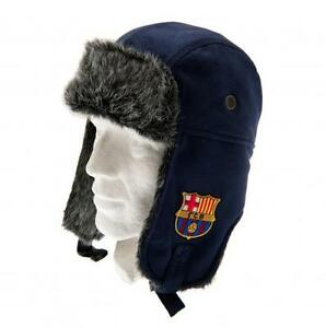Image is loading Fc-Barcelona-Jersey-Winter-Trapper-Hat-Navy-Blue cef97eb67460