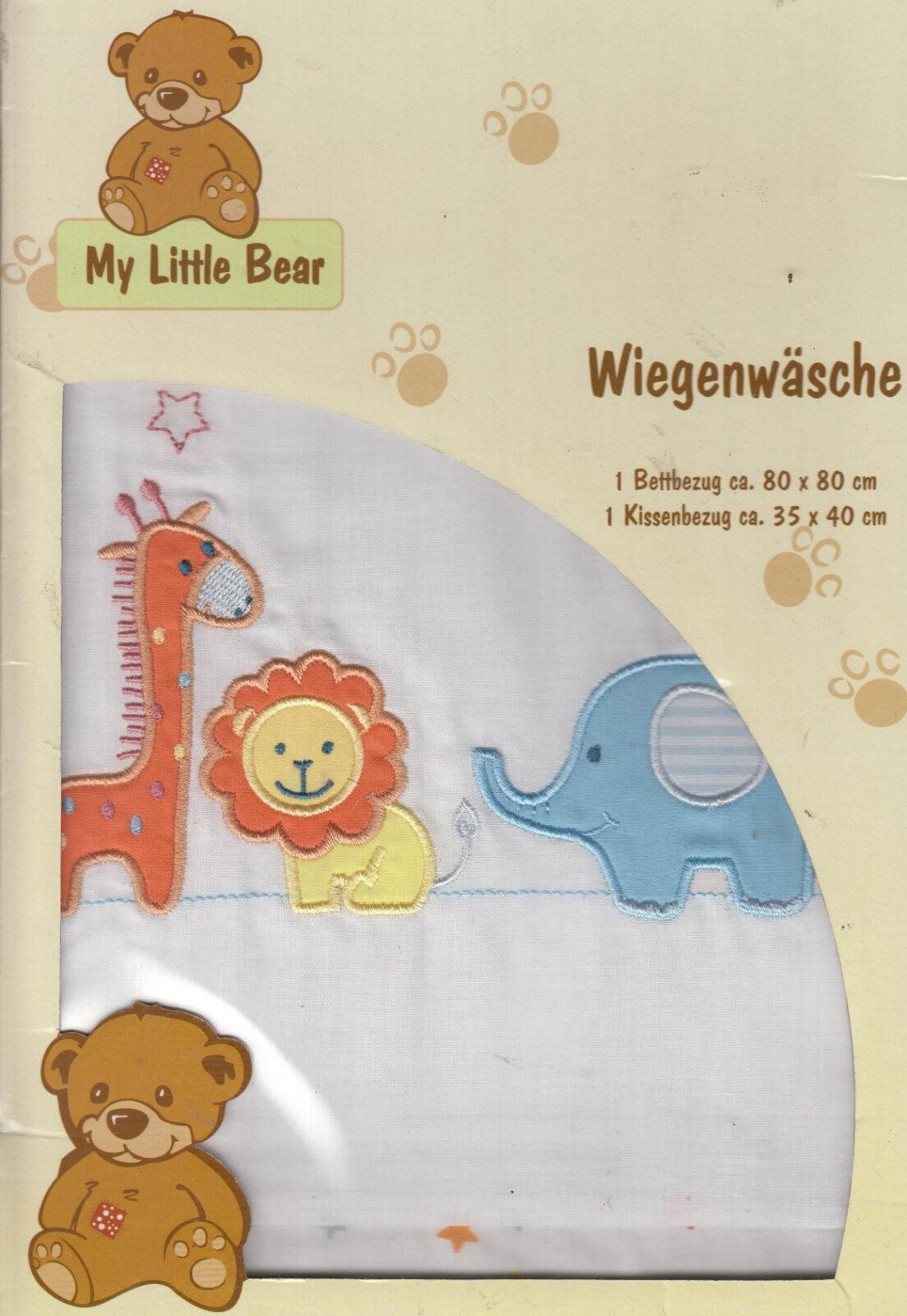Easy-Baby Bettwäsche 2-teilig 80//80 35//40 cm  Bear stars rose NEU