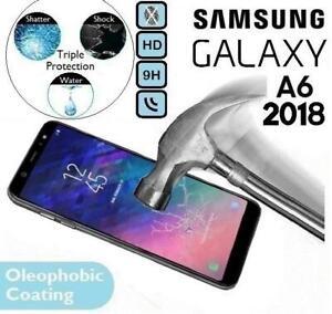 Para SAMSUNG GALAXY A6 2018 película protectora de pantalla de vidrio Gorilla TEMPERED