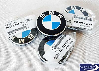 Original BMW Nabenabdeckung mit Chromrand 65mm Felgendeckel Satz Nabendeckel