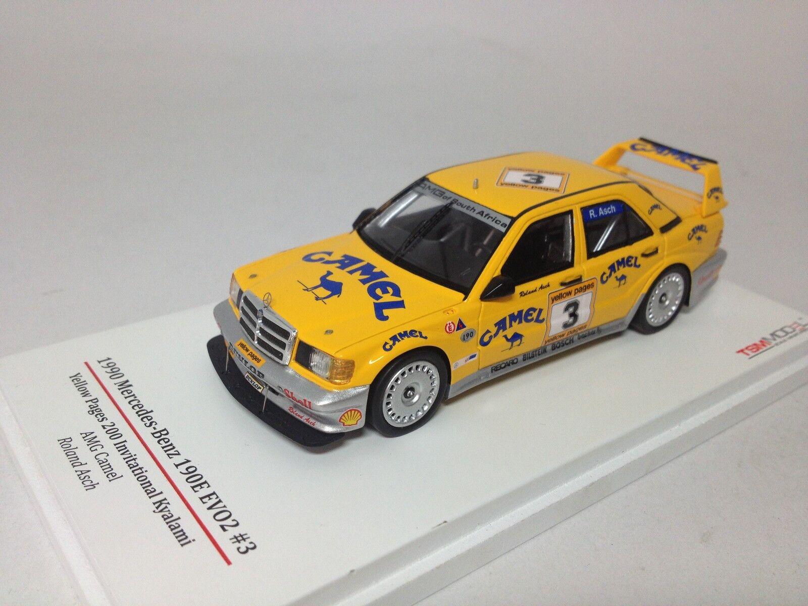 TSM escala 1 43 Mercedes-Benz 190E EVO2 AMG Camel no. TSM124344 Acabado