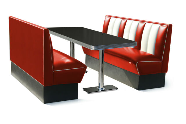 hot sale online 53d77 fb2f9 150cm Retro 50s Diner Furniture Kitchen Table Restaurant Bench Booth  Seating Red
