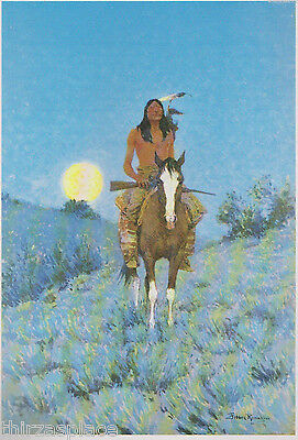 """Frederic Remington """"The Outlier"""" A Native American Indian,-Western- Art Print---"""
