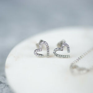 Modern-Diamond-Heart-Stud-Earrings-Genuine-Diamonds-in-9K-White-Gold-S