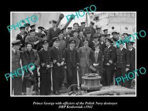 OLD-POSTCARD-SIZE-PHOTO-POLAND-MILITARY-POLISH-NAVY-ORP-KRAKOWIAK-amp-PRINCE-1942