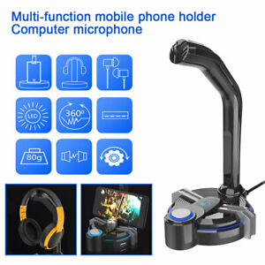 2-in1-Phone-Holder-USB-Microphone-Condenser-Studio-Sound-Recording-Mic-For-PC