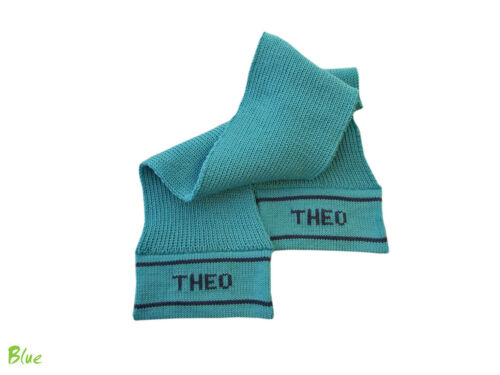 Personalized Scarf MERINO WOOL baby child boy girl custom gift warm hand knitted