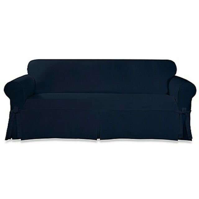 Sure Fit Plush Sofa Throw Slipcover For