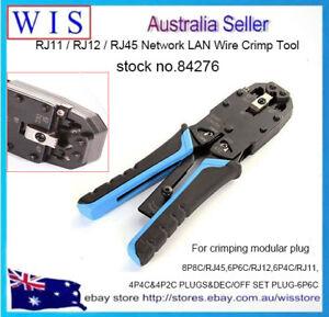 3 in 1 RJ45 RJ11 RJ12 Wire Cable Crimper Ratchet Ethernet Crimping ...