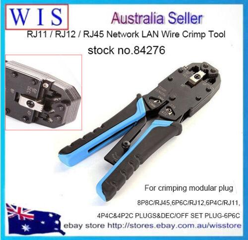 RJ48//45//11//12 Ratche Ethernet Crimping Tool Cable Crimper Crimp PC Network Tool