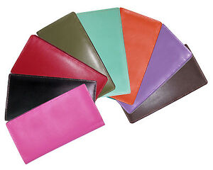 ili 7406 RFB Leather Checkbook with Pen Holder, 26 Colors