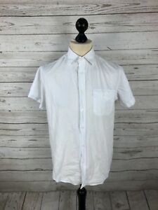 ARMANI-Shirt-Size-Medium-Short-Sleeved-White-Great-Condition-Men-s