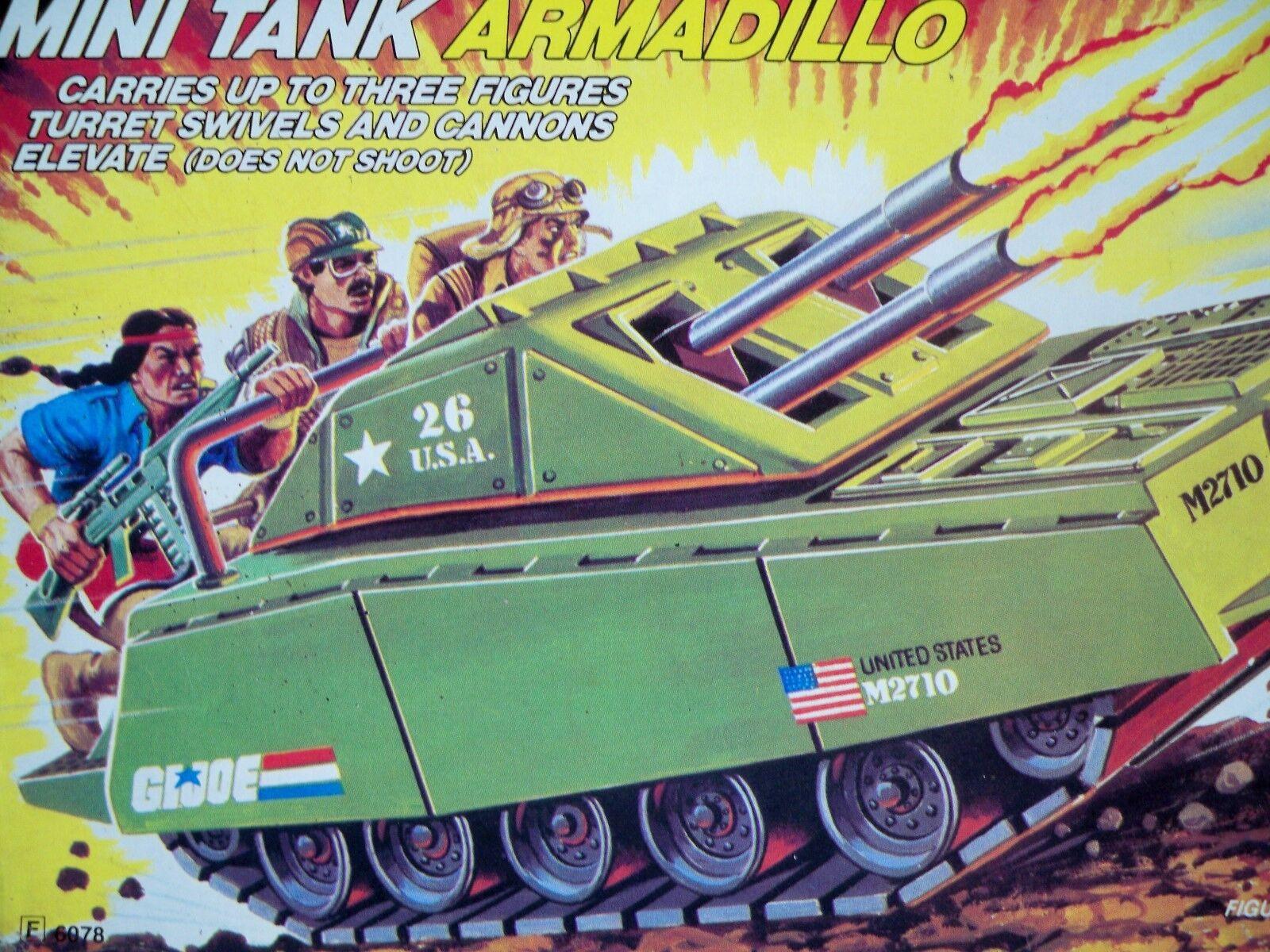 K1828011 tatou Tank Comme neuf in box Comme neuf in Box Sealed Sac Non GI Joe Vintage