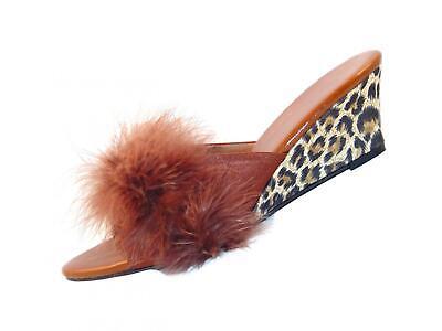 """MicheleX 8070 Leopard Strap 6/"""" Stiletto High Heel Platforms Sandals"""