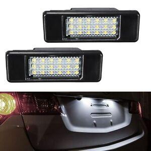 ECLAIRAGE-PLAQUE-LED-NISSAN-NOTE-E11-PATHFINDER-R51-PRIMERA-P12-WP12-BLANC