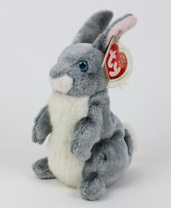 Ty Beanie Babies - HOPPER the Bunny Rabbit (7 Inch) Stuffed Plush Toy - MWMT