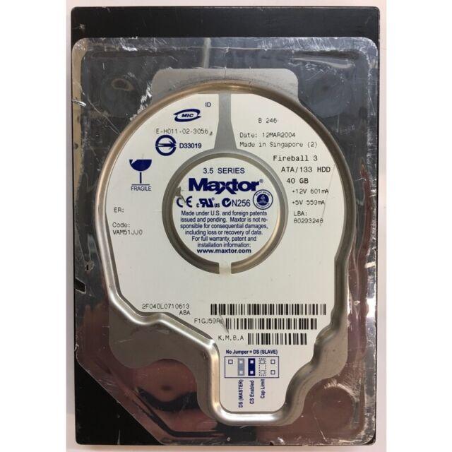 Maxtor 40GB, 5400RPM, IDE  - 2F040L0