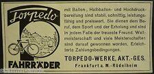 Torpedo Fahrräder,Fahrrad,Torpedo Werke Akt.Ges.Frankfurt Röd.,orig.Anzeige 1929