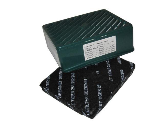 50 Sacchetto per aspirapolvere Carbone Attivo Filtro Set Spazzole adatto Tiger 251 252