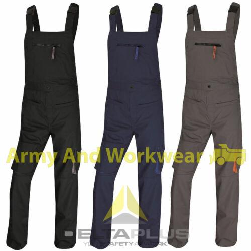 Panoply Delta Plus M2SAL Mens Bib /& Brace Coverall Work Multi Pocket Dungaree