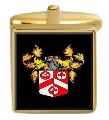 100% QualitäT Beasley England Familie Wappen Familienname Gold Manschettenknöpfe Graviert