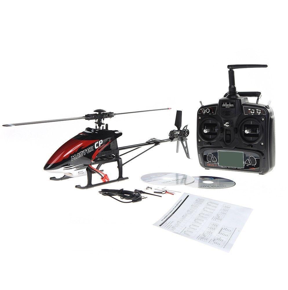 Walkera meister cp flybarless rc helikopter w   2.4g devo 7 sender rtf - usa