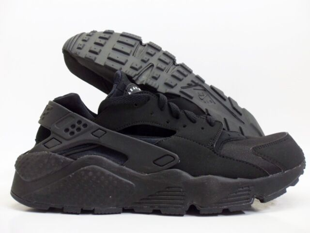 8f2c9185515 Men's Nike Air Huarache Run Size 10 Black Shoes 318429 003