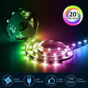 Bande-LED-Pour-TV-USB-Ruban-LED-Strip-Flexible-RGB-5050-SMD-5V-20-couleurs