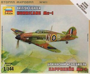 Zvezda 1/144 Hurricane Mk.I British Fighter Z6173
