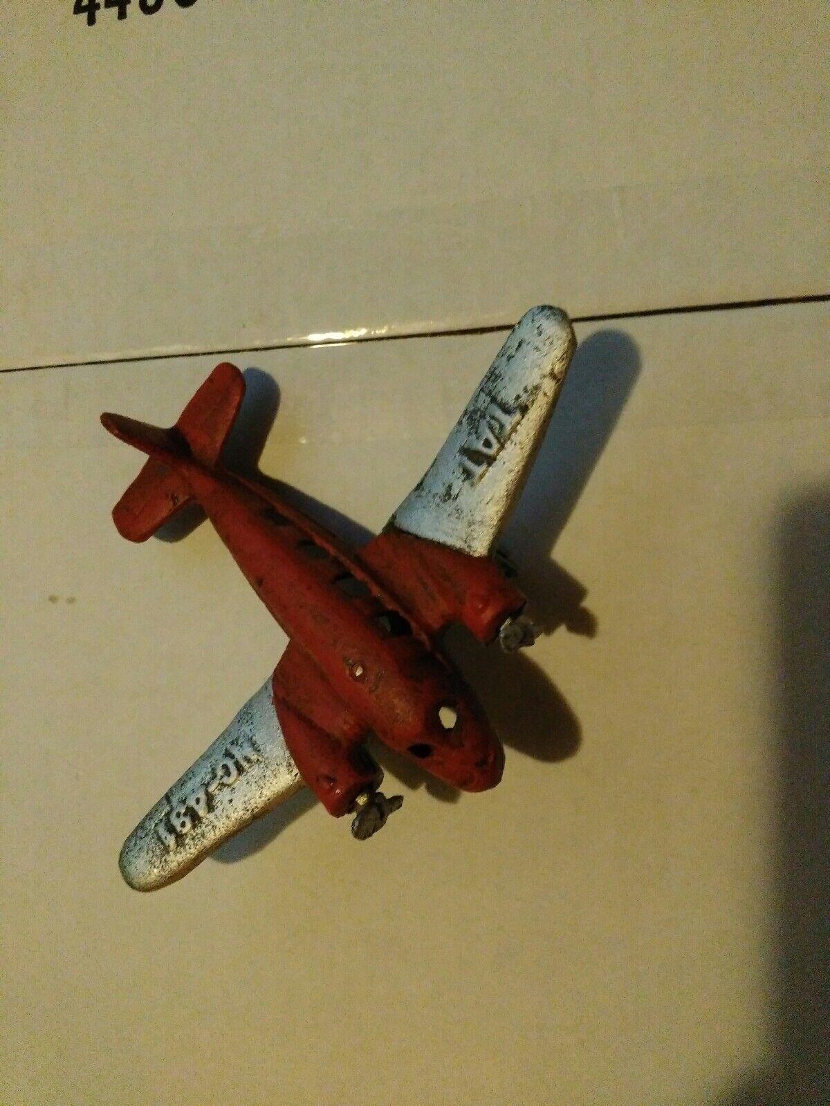 Rare Hubley TAT jouet en fonte AVION DOUGLAS DC3 Twin Engine NC-491