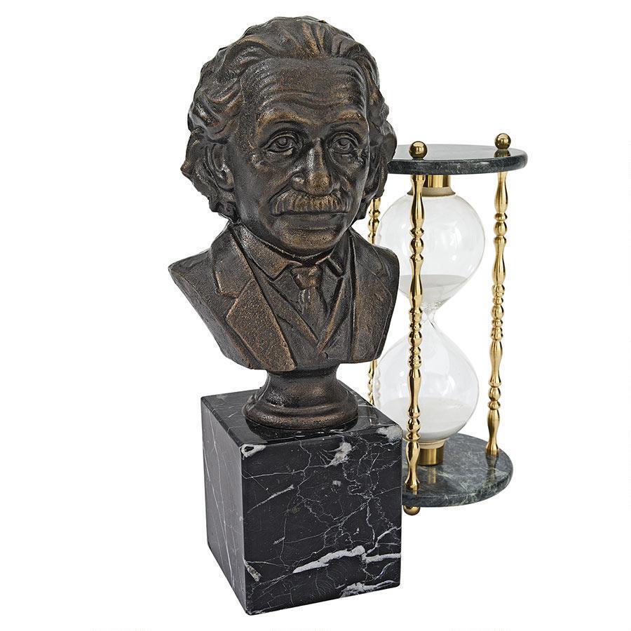 El físico científico Albert Einstein de hierro fundido Busto Estatua Escultura Nuevo