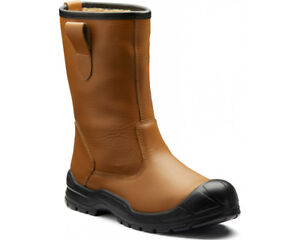 Dickies-Dixon-Rigger-Safety-Boots-Mens-Water-Resistant-Fur-Lined-Steel-Toe-Cap