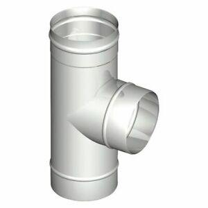 Single-Walled Exhaust System T-Piece 87? Dn 130 x 0,6
