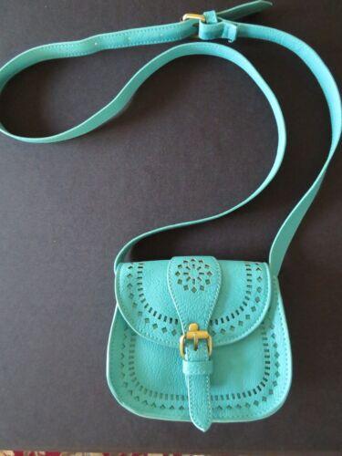 cuero de Monedero azulado pequeño verde qa77d5wz