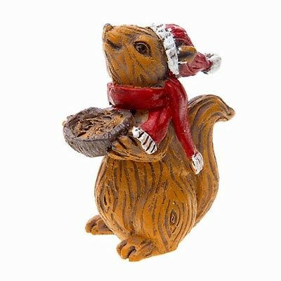 Christmas Squirrel.Miniature Christmas Squirrel For Fairy Garden Hand Painted Resin Figurine 2 4 889092063243 Ebay