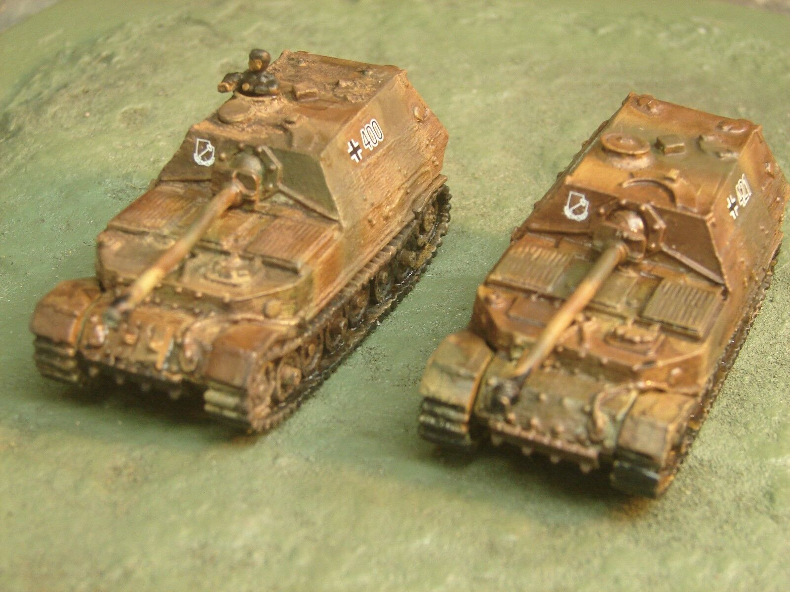 Flames of War Painted German Elephant Tank Destroyer Platoon
