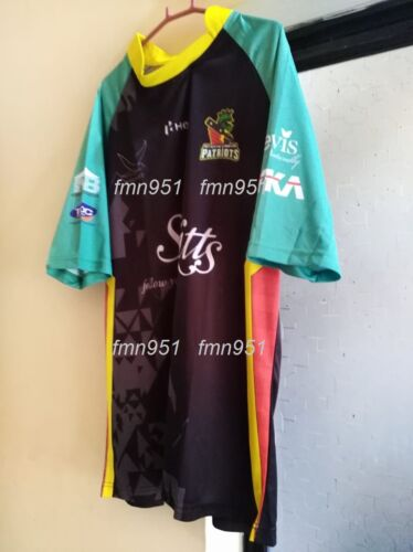CPL T20 St Kitts and Nevis Patriots 2018 Shirt Shirts Jersey Short /& Long Sleeve