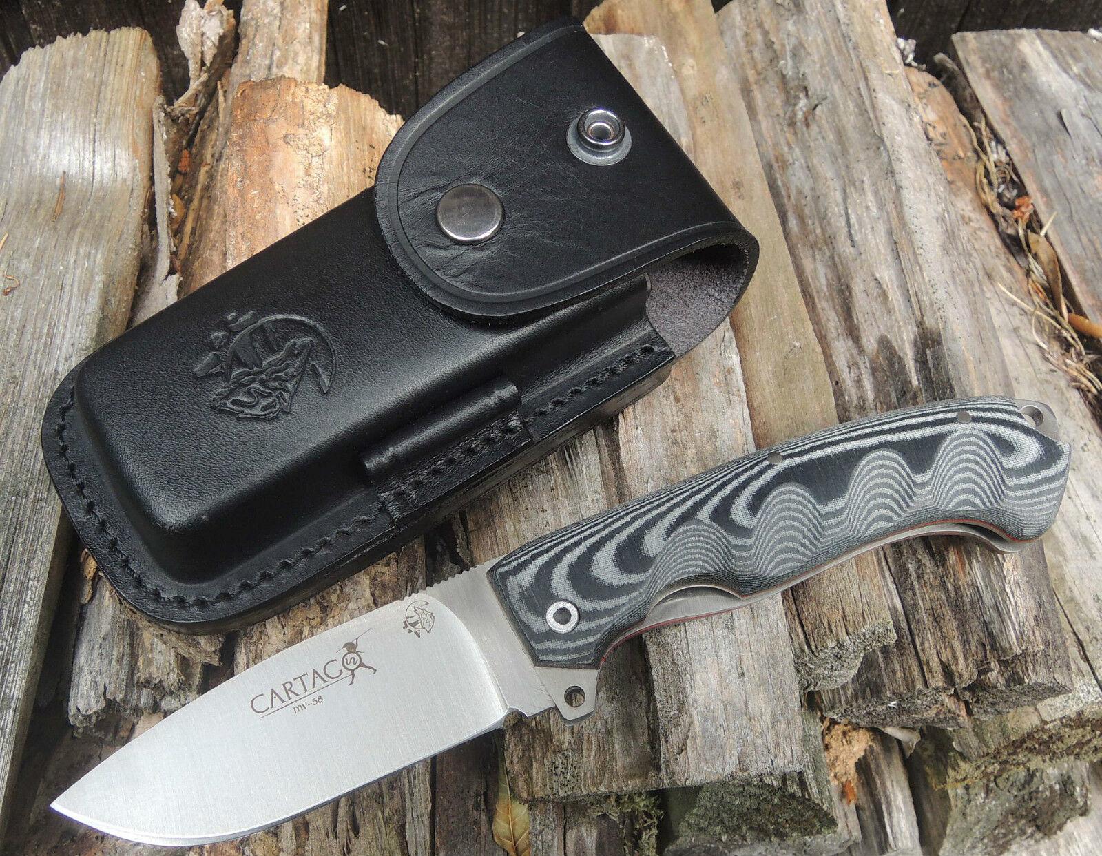 J&V Adventure Knives Cartago Outdoor Taschenmesser MoVa-58 Stahl Micarta Griff