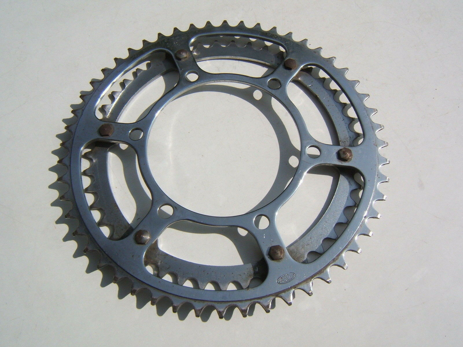 STRONGLIGHT  TWIN STEEL CHAINRINGS BCD 116mm 42 52 TEETH   FRANCE 70's - USED VGC  all goods are specials