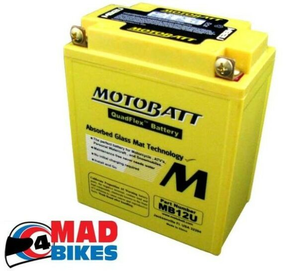 Actief Motobatt Mb12u Gel Battery 20% Extra Starting Power