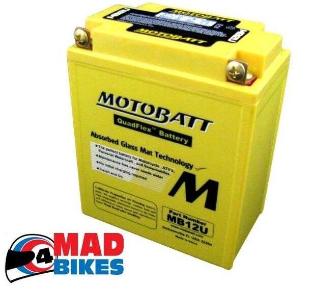 Honda VFR750 FG, FH, FJ, FK Motobatt MB12U Upgrade Battery Replaces YB12AL-A2