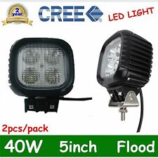 2X 40W CREE Led Work Light Offroad Flood Driving Lamp Truck Atv Boat 12V 24V USA