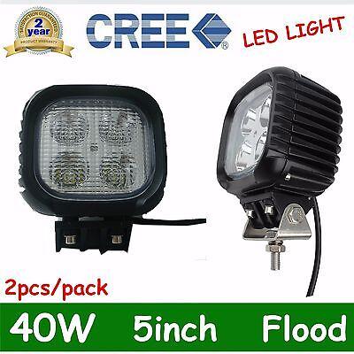 2X 40W CREE Led Work Light Offroad Flood Driving Lamp Truck Atv Boat 12V 24V OFF